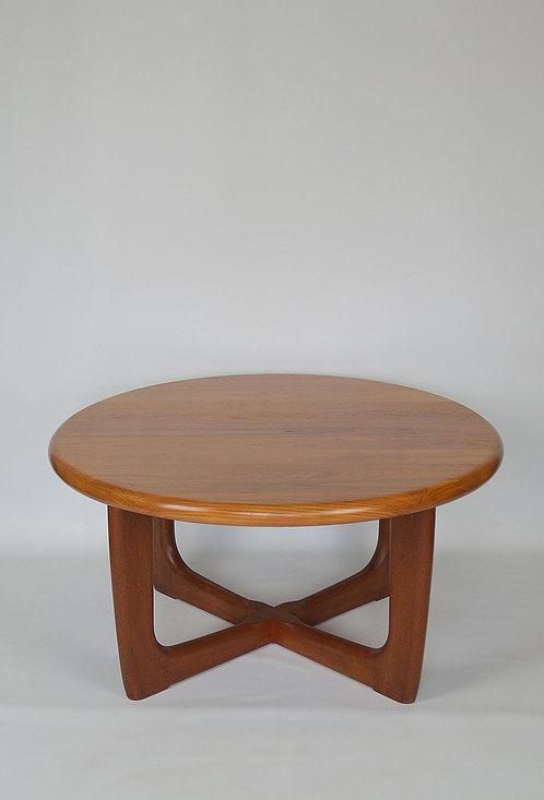 Scandinavische salontafel ontworpen door Niels Bach, jaren '70