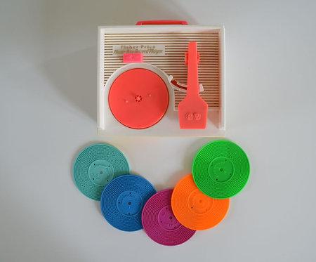 Fisher Price platenspeler met 5 platen,1986