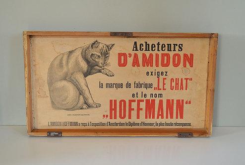 Decoratief deksel van Amidon Hoffman voorraadkist voor stijfsel
