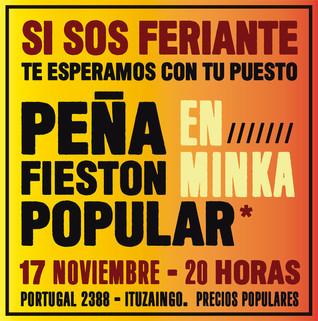 SE VIENE EL FIESTÓN DE MINKA: LA PEÑA POPULAR