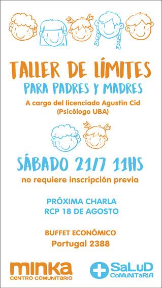 TALLER DE LÍMITES PARA MADRES Y PADRES