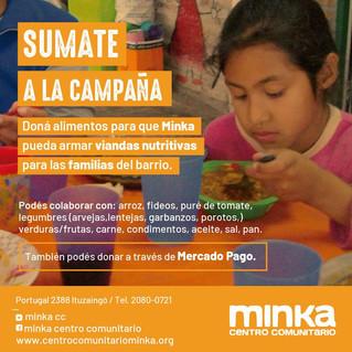 EMERGENCIA ALIMENTARIA POR LA CUARENTENA : SUMATE A LA CAMPAÑA DE DONACIONES DE MINKA