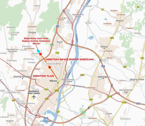 Plan routes stade