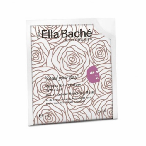 Ella Baché Bio-cellulosová hydratační maska Roses 1 ks