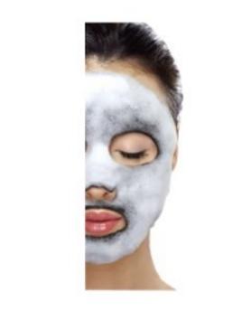 Ella Baché Bublinková maska Black Charcoal 1 ks