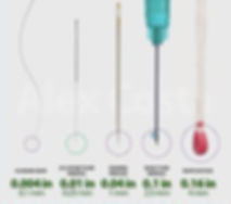 acupuncture needle size, thin
