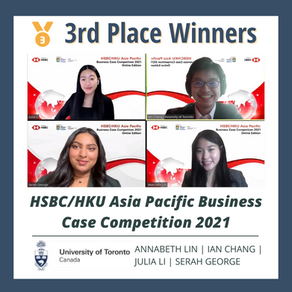 Julia Li and Her Team Place Third at the HSBC/HKU Asia Pacific Business Case Competition