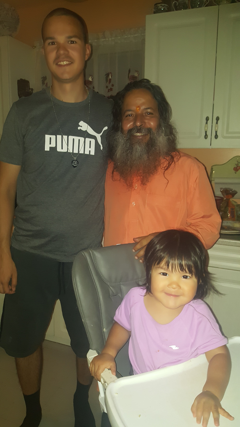 Guruji with son Marlon and grand daughter Kara