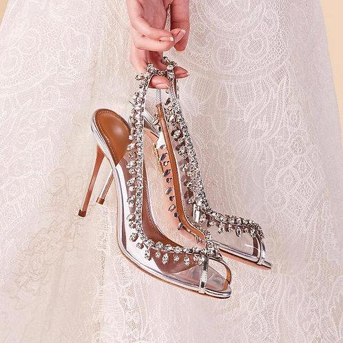 Sandália Luxury Cinderella Peep Toe