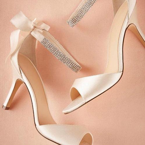 Sandália Luxury Peep Toe laço