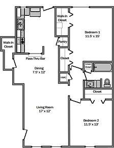 Delta residence La Porte Texas 2 bedrooms 1.5 bathroom