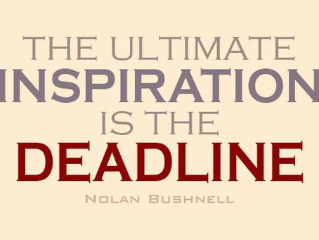 Deadlines! Motivation Vs Inspiration