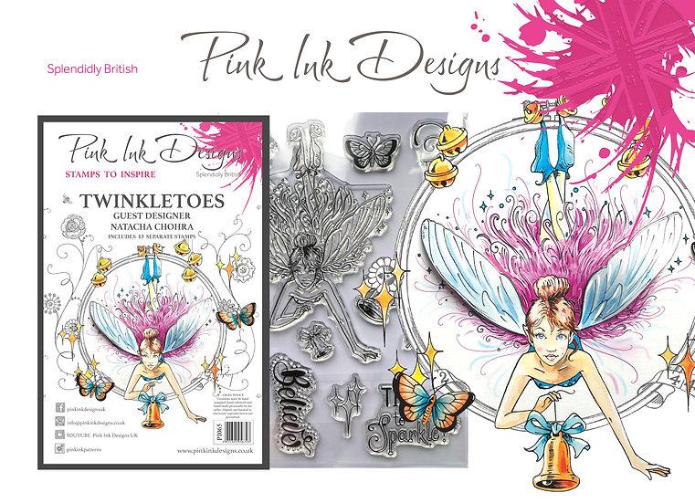 Pink Ink Designs Stamp - Twinkletoes Fairy -  Plus Bonus Hedgehog Stamp