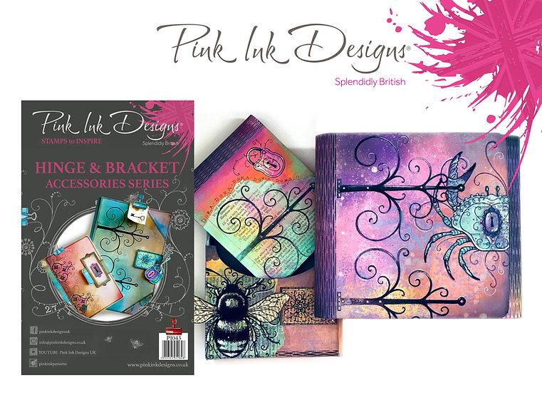 Pink Ink Designs Stamp - Hinge and Bracket - Plus Bonus Dinky Pinky Stamp