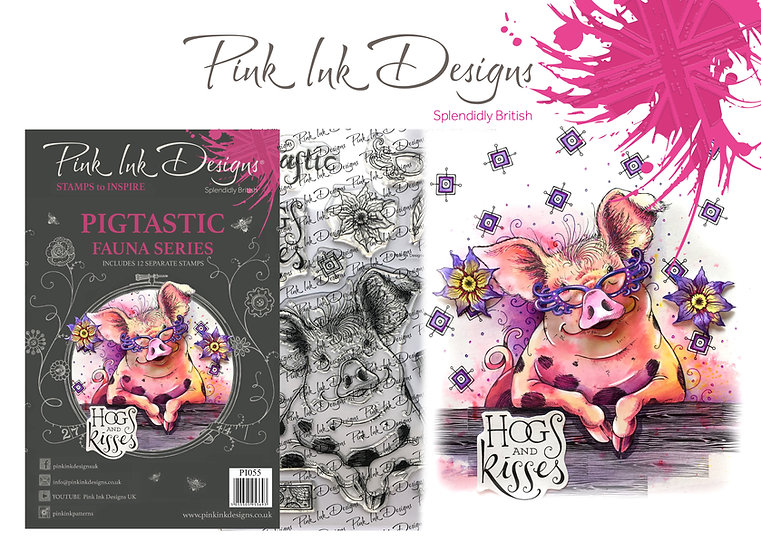 Pink Ink Designs Stamp - Pig - Plus Bonus Dinky Pinky Stamp