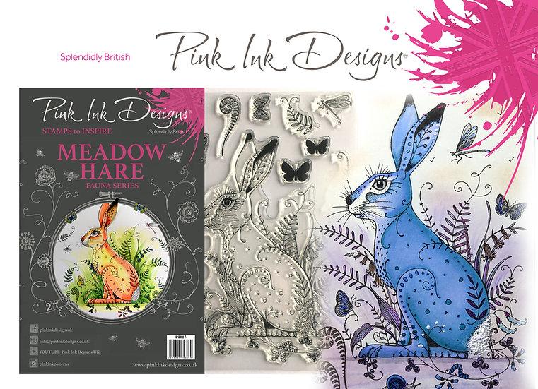 Pink Ink Designs Stamp - Meadow Hare - Plus Bonus Dinky Pinky Stamp