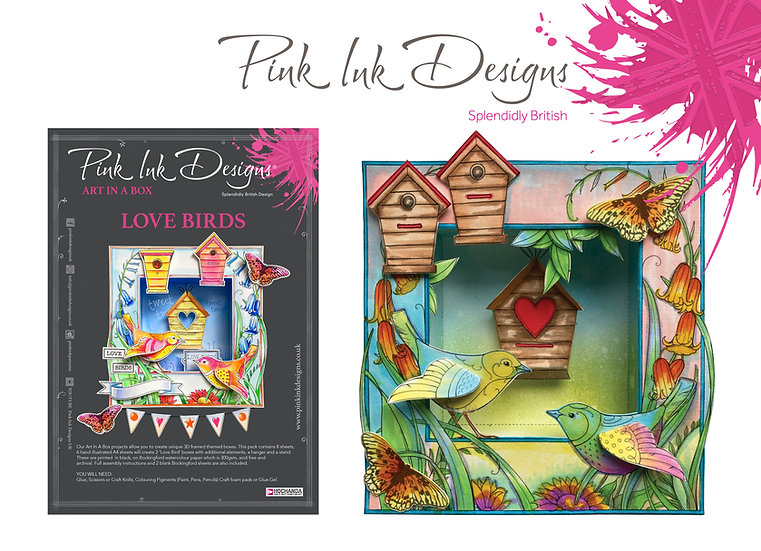 Pink Ink Designs Project Pack - Art In A Box - Love Birds