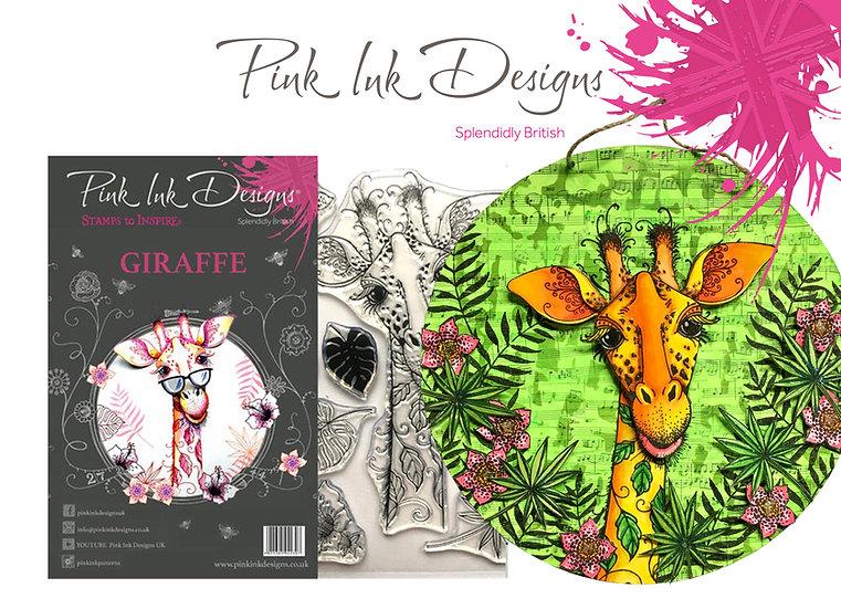Pink Ink Designs Stamp - Giraffe - Plus Bonus Dinky Pinky Stamp