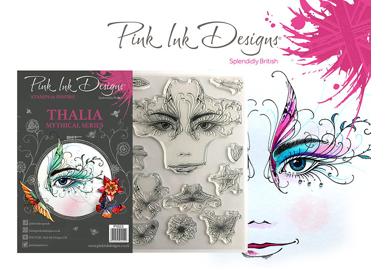Pink Ink Designs Stamp - Thalia, eye - Plus Bonus Dinky Pinky Stamp