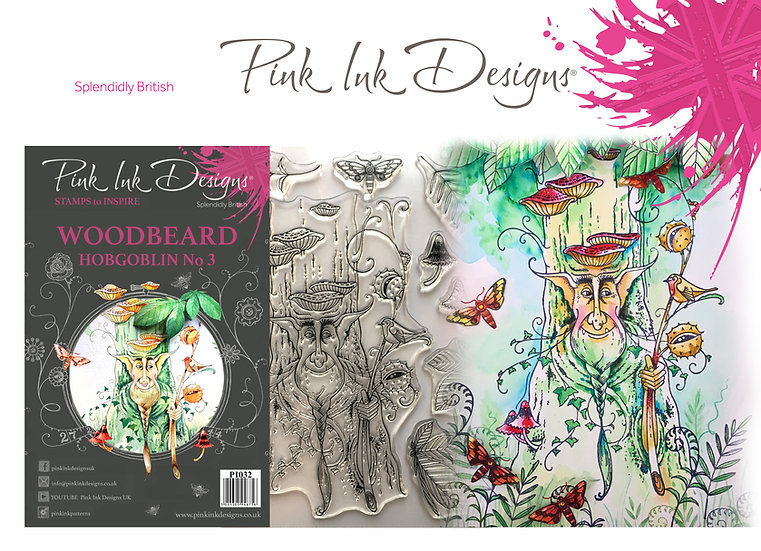 Pink Ink Designs Stamp - Tree Goblin Woodbeard - Plus Dinky Pinky Stamp