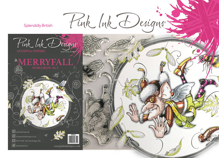 Pink Ink Designs Stamp - Hobgoblin, Merryfall - Plus Bonus Dinky Pinky Stamp