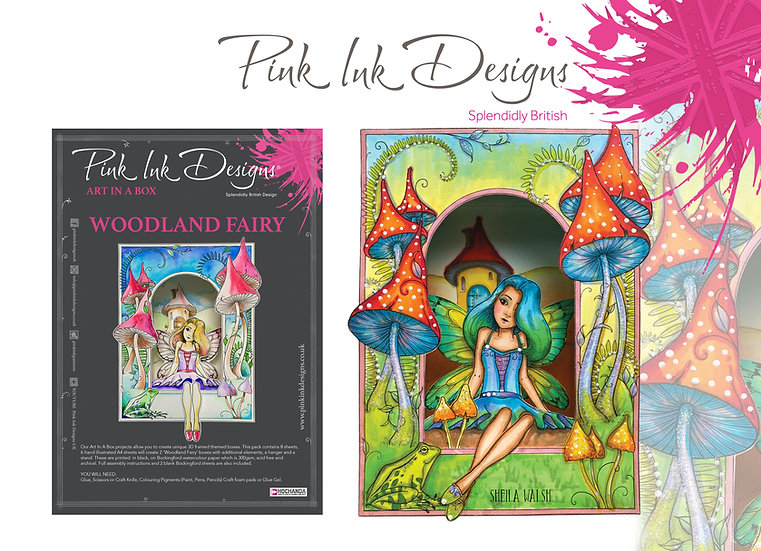 Pink Ink Designs Project Pack - Art In A Box - Woodland Fairy
