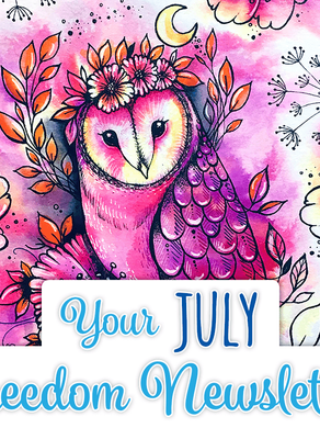 Our Midsummer Owl Sits Pretty in The Hochanda Newsletter
