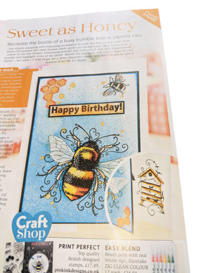 Our Bee-utiful Stamp Flies onto The Magazine Stand