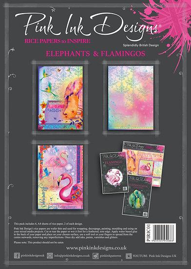 Pink Ink Designs Rice Paper - Elephant & Giraffe