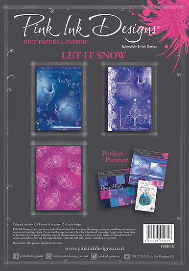 Pink Ink Designs Rice Paper - Let It Snow