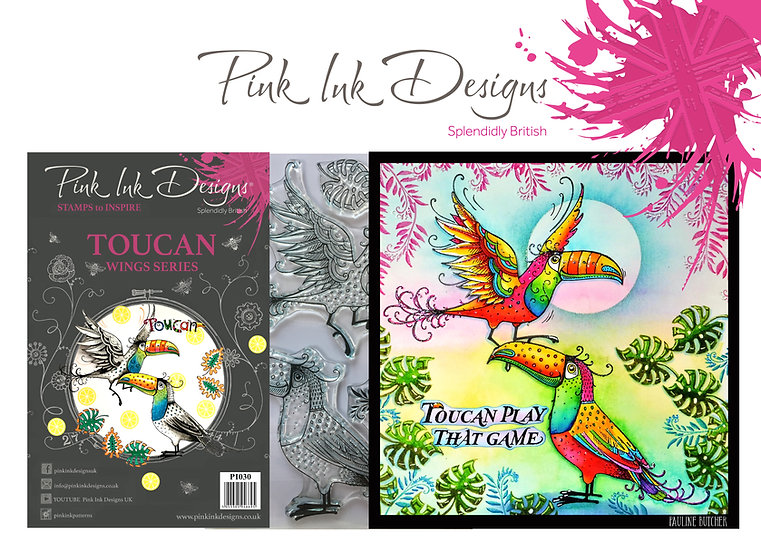 Pink Ink Designs Stamp - Toucan - Plus Bonus Dinky Pinky Stamp