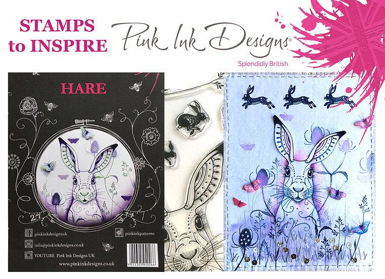 Pink Ink Designs Stamp - Hare - Plus Bonus Paper