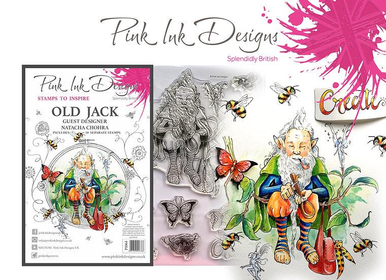 Pink Ink Designs Stamp - Old Jack -  Plus Bonus Dinky Pinky Stamp
