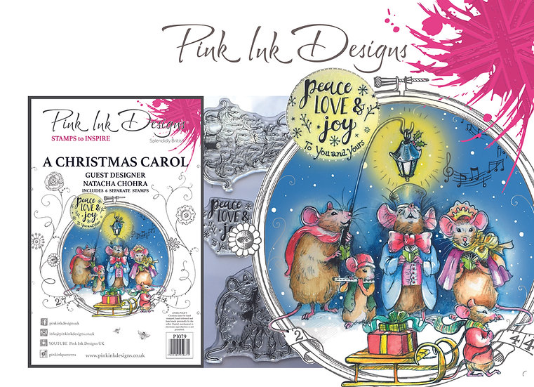 Pink Ink Designs A Christmas Carol - Plus Bonus Dinky Pinky Stamp