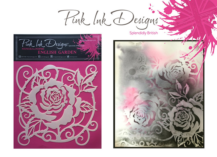 Pink Ink Designs Stencil - English Garden