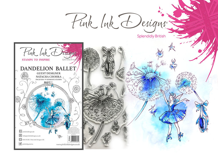Pink Ink Designs Stamp - Dandelion Ballet - Plus Bonus Dinky Pinky Stamp