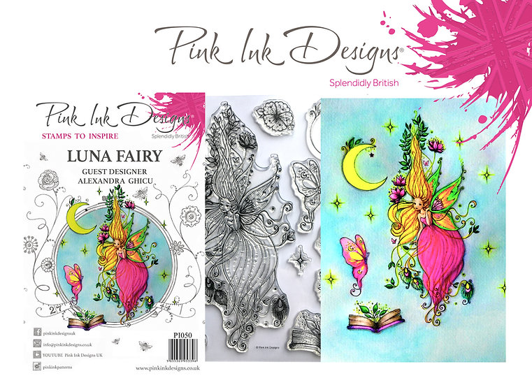 Pink Ink Designs Stamp - Luna Fairy - Plus Bonus Paper