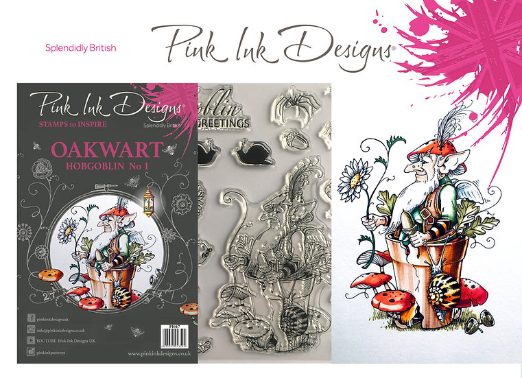 Pink Ink Designs Stamp - Hobgoblin, Oakwart - Plus Bonus Dinky Pinky Stamp