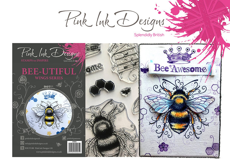 Pink Ink Designs Stamp - Bee - Plus Bonus Paper