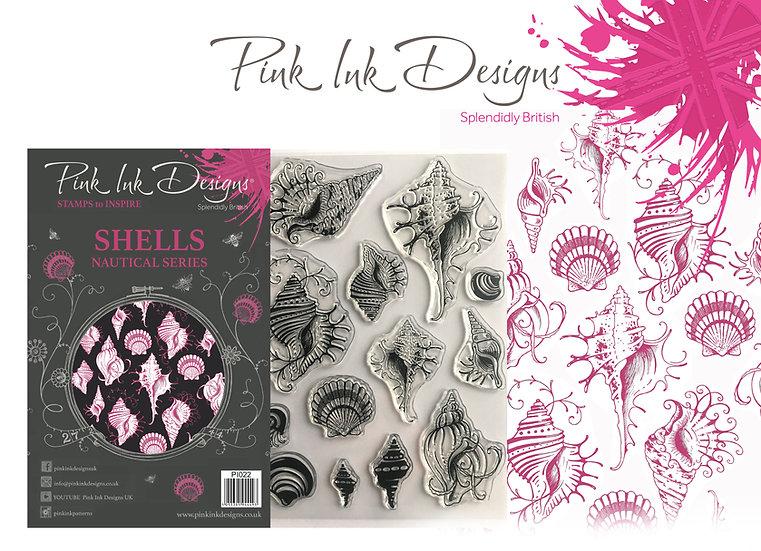 Pink Ink Designs Stamp - Shells - Plus Bonus Dinky Pinky Stamp
