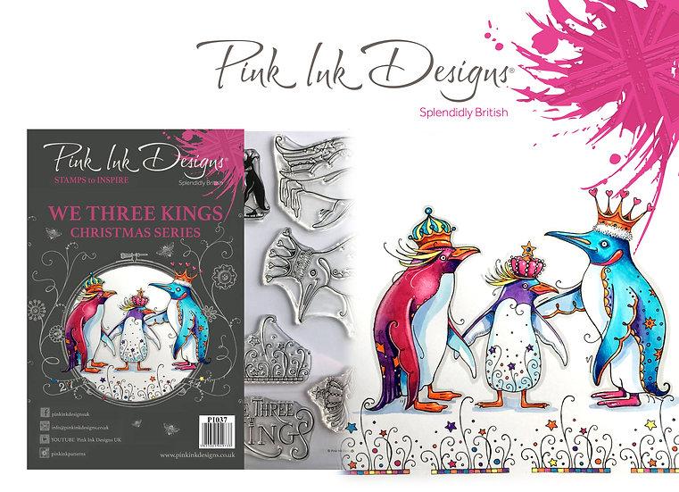 Pink Ink Designs Stamp - Penguins - Plus Bonus Paper