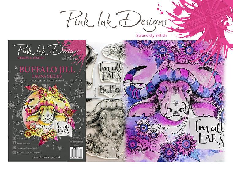 Pink Ink Designs Stamp - Buffalo Jill - Plus Bonus Dinky Pinky Stamp