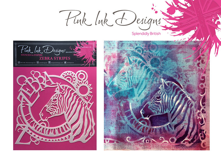Pink Ink Designs Stencil - Zebra