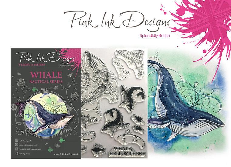 Pink Ink Designs Stamp - Whale - Plus Bonus Dinky Pinky Stamp
