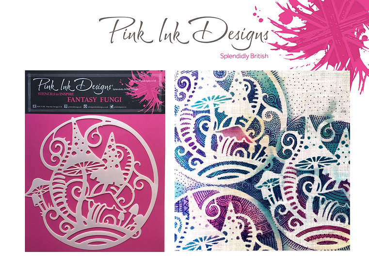 Pink Ink Designs Stencil - Fantasy Fungi
