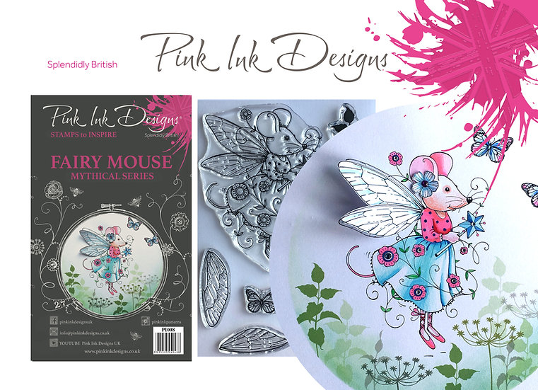 Pink Ink Designs Stamp - Fairy Mouse