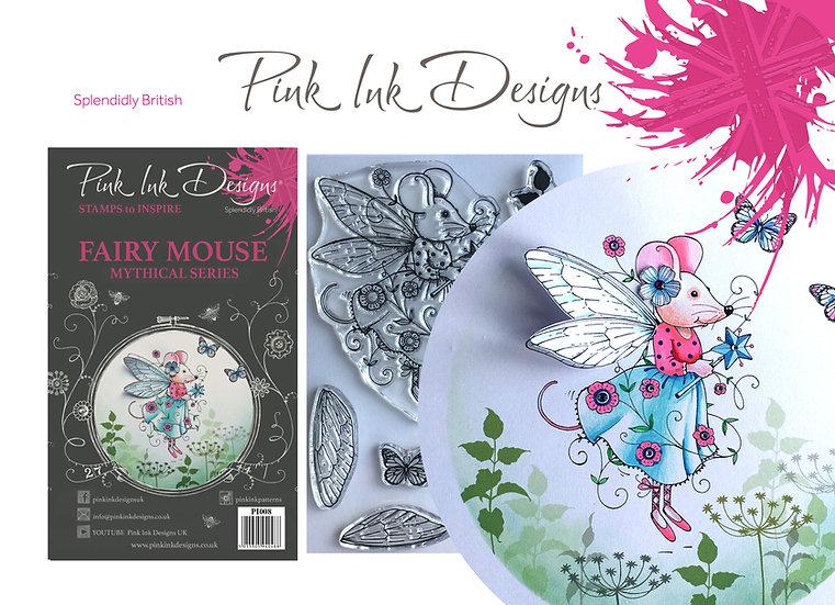 Pink Ink Designs Stamp - Fairy Mouse - Plus Bonus Paper