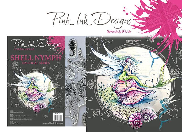 Pink Ink Designs Stamp - Shell Nymph - Plus Bonus Dinky Pinky Stamp