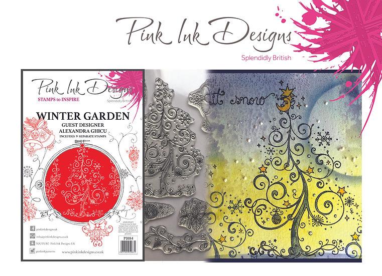 Pink Ink Designs A5 stamp - Winter Garden - Plus Bonus Paper