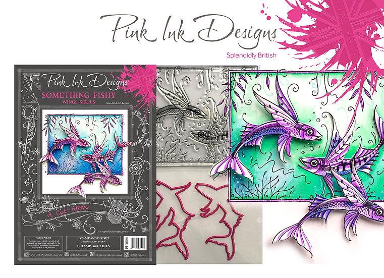 Pink Ink Designs Stamp and Die Set - Something Fishy - Plus Dinky Pinky Stamp